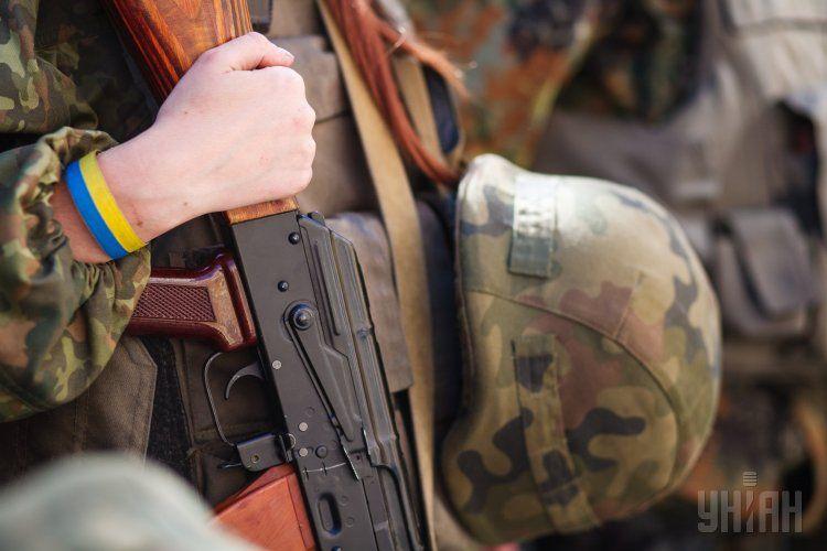 Военный с оружием, иллюстрация