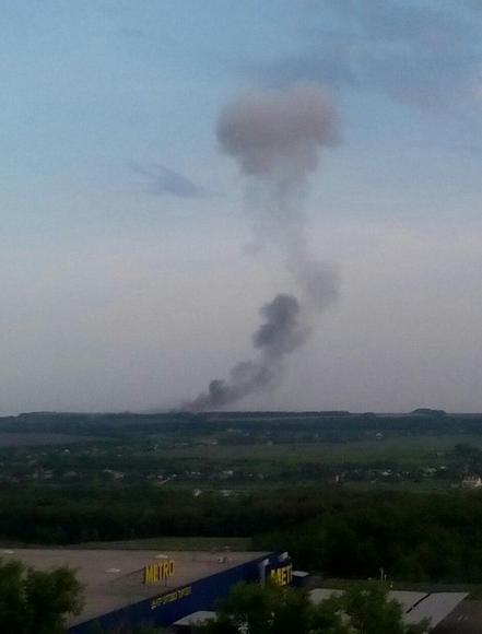Последствия взрыва в Донецке