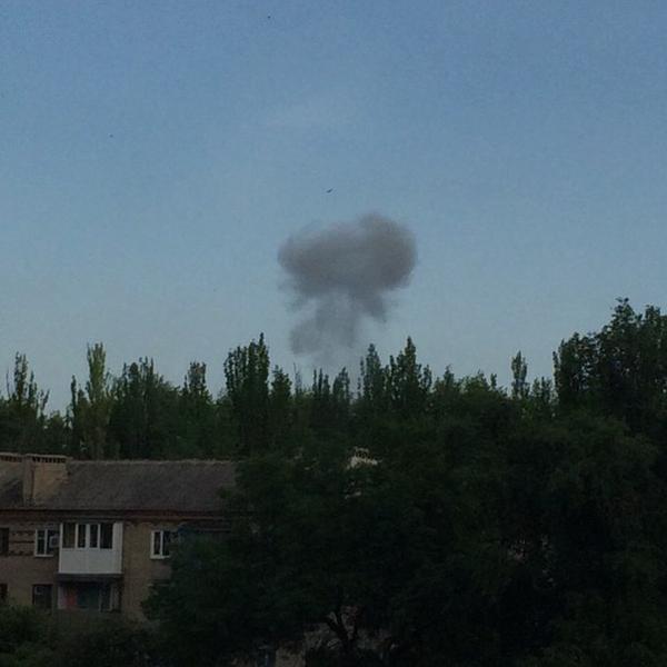 Взрыв в Донецке, иллюстрация