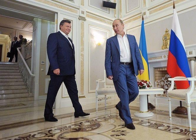 Владимир Путин и Виктор Янукович