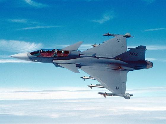 Самолет ВВС Швеции