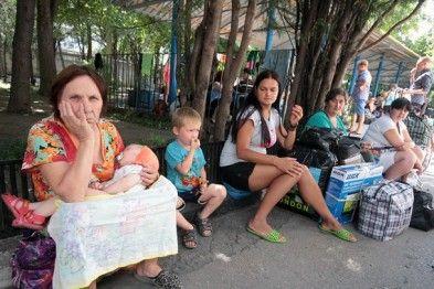 Переселенцы Донбасса, иллюстрация.