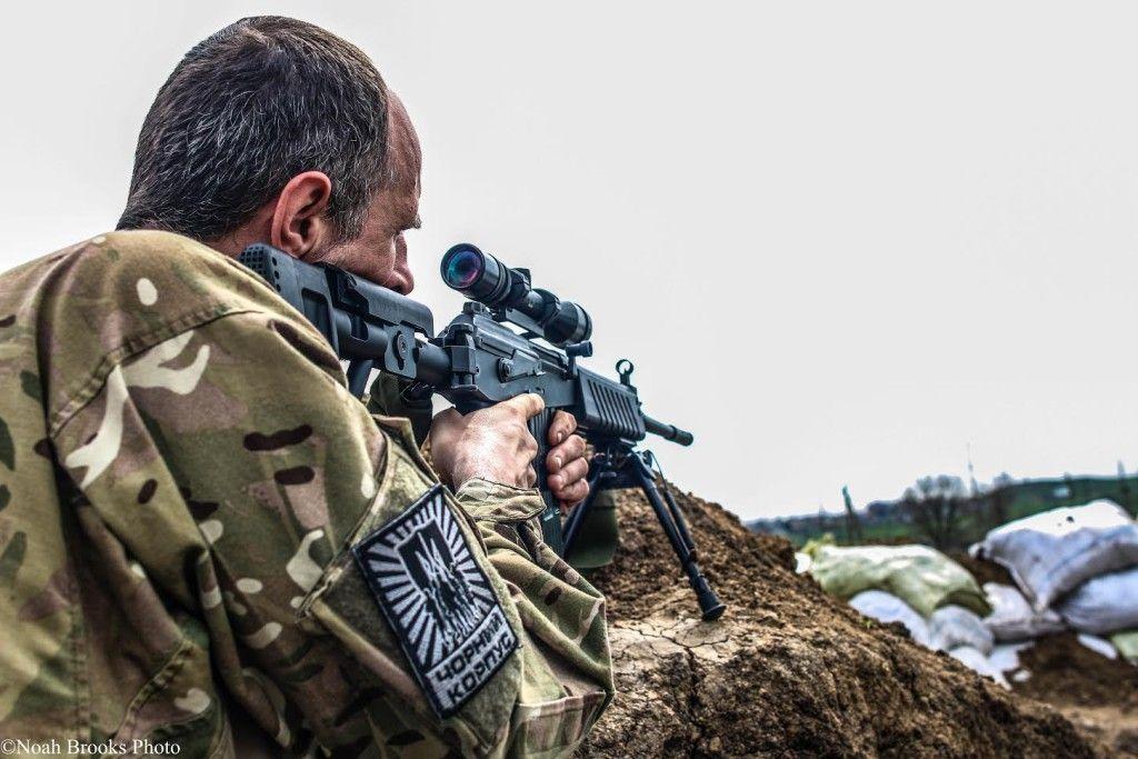 Украинский боец в Широкино, иллюстрация