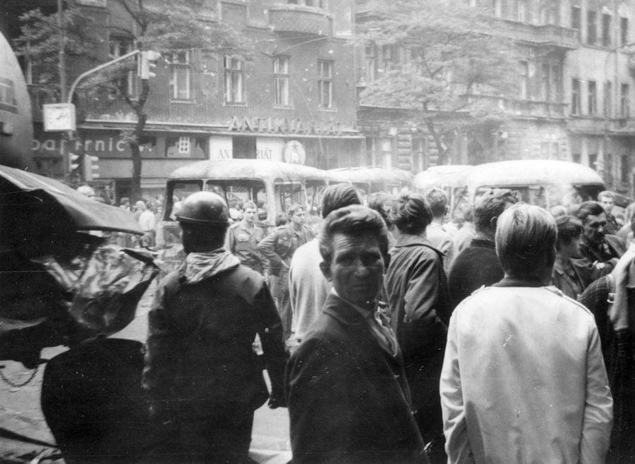 Горожане на улицах Праги