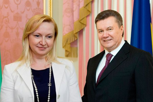 Любовь Полежай и Виктор Янукович