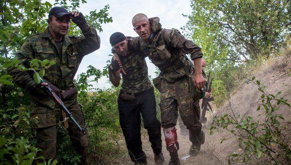 Боевики под Марьинкой, иллюстрация