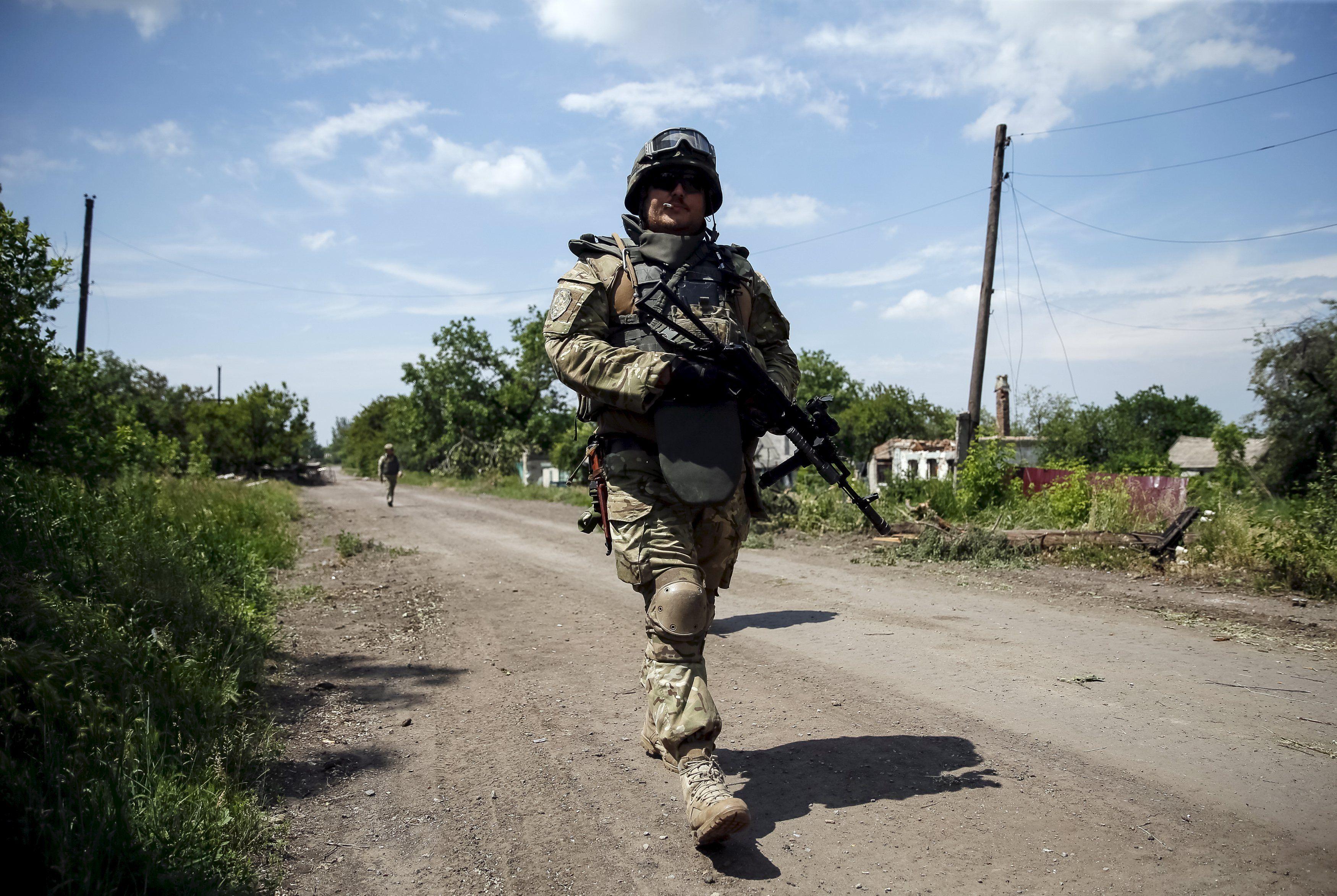 Украинский военный на Донбассе, иллюстрация
