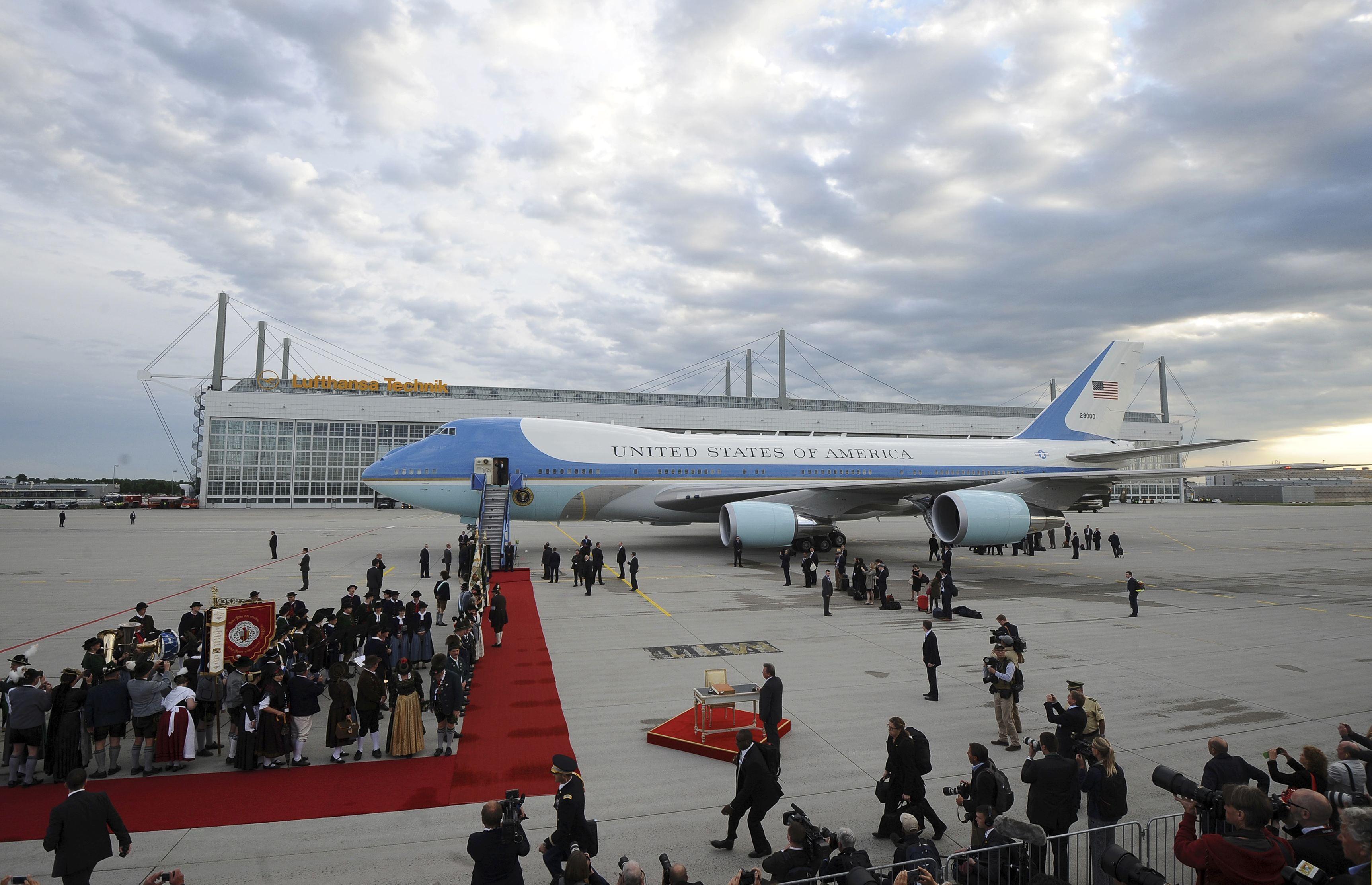 Прибытие Обамы на саммит