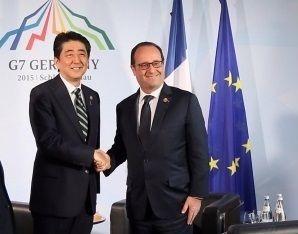 Синдзо Абэ и Франсуа Олланд