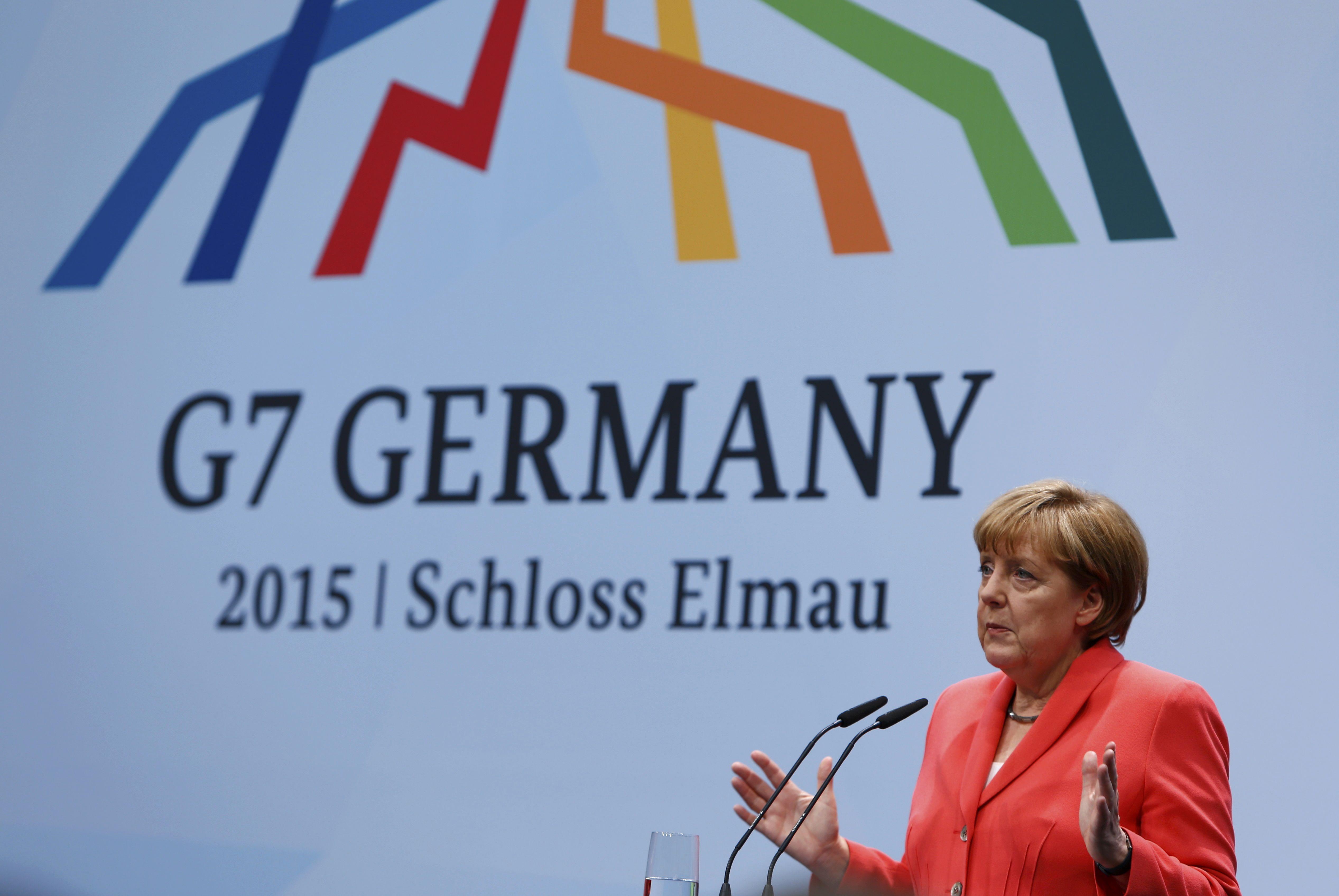 Ангела Меркель на саммите G7.