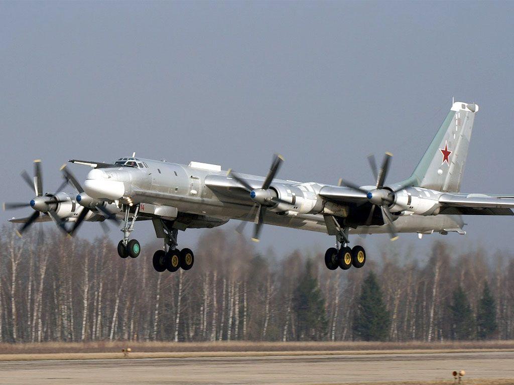 Российский самолет Ту-95, иллюстрация