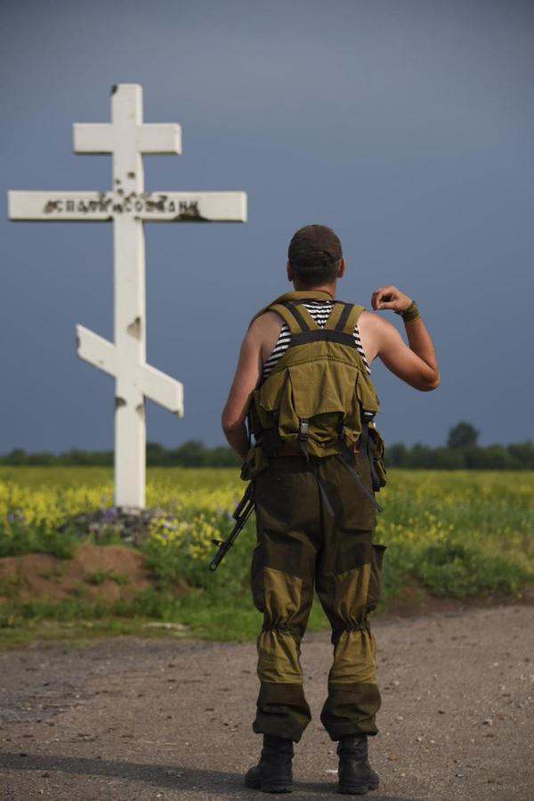 Крест на месте ожесточенных боев