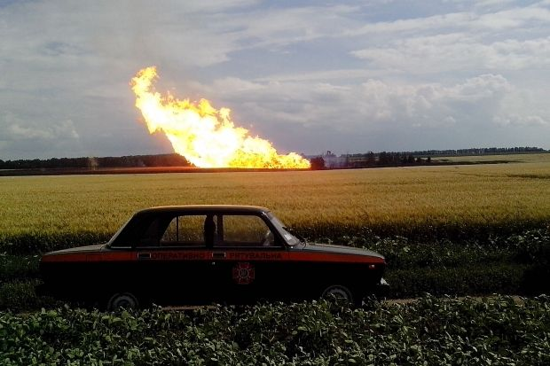 На Луганщине газопровод проходит по лини разграничения