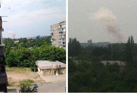 Фото со стороны эпицентра взрыва