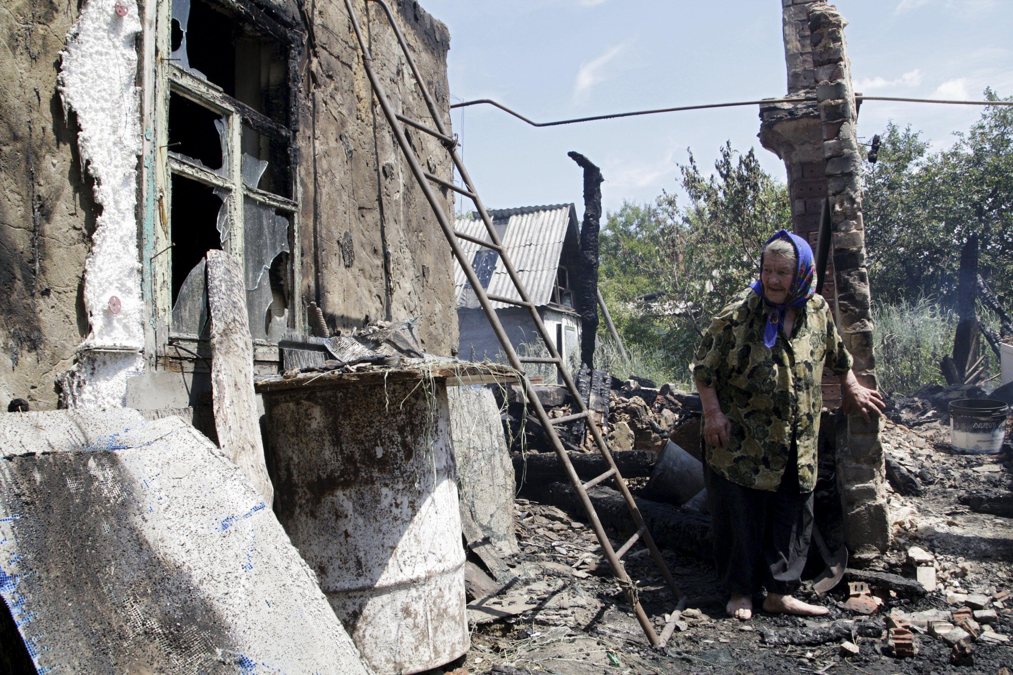 Разрушенный Донбасс, иллюстрация.