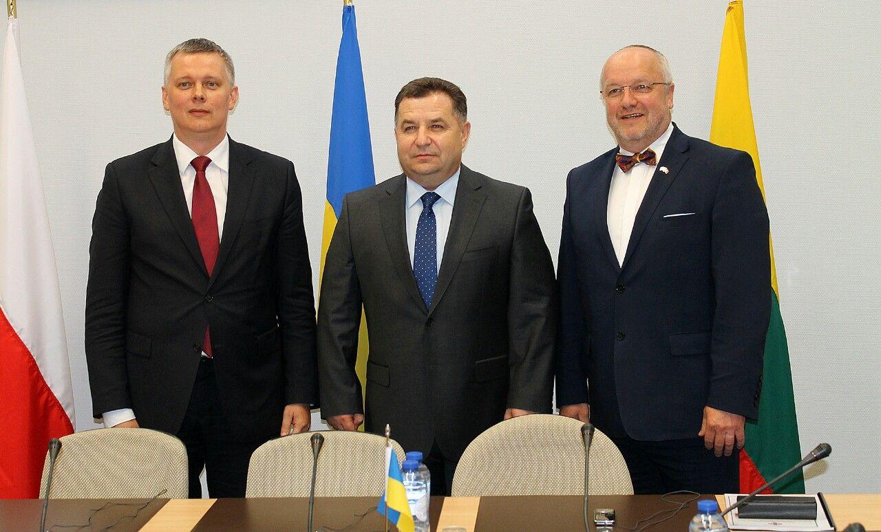 Министры обороны Польши, Украины и Литвы