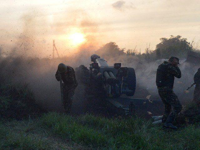 Работает украинская артиллерия