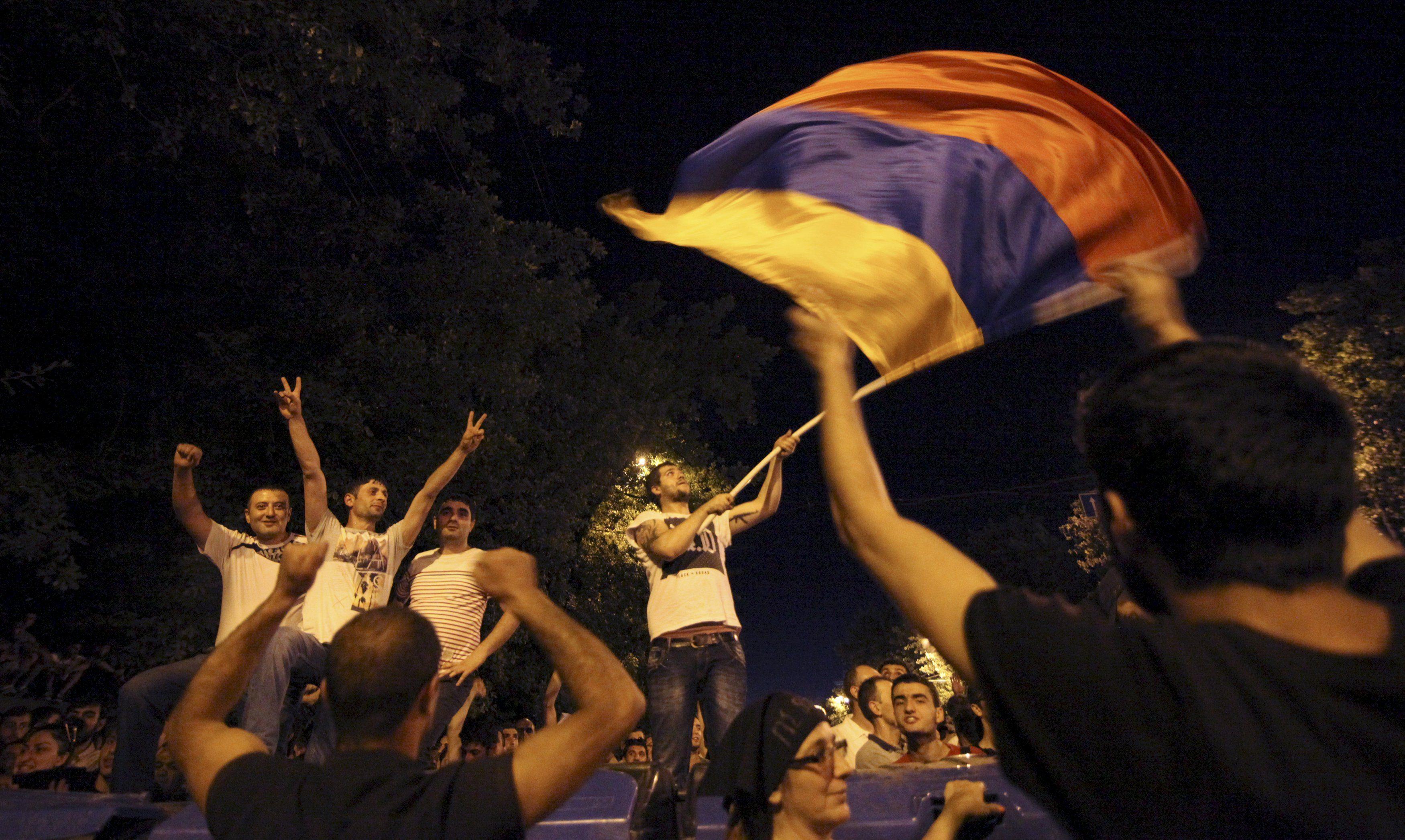Протест в Ереване