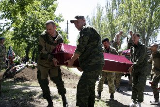 Похороны боевика, иллюстрация