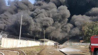 Пожар на васильковской нефтебазе