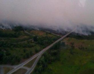 Новый пожар в зоне ЧАЭС тушат с помощью самолетов