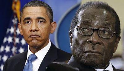 Роберт Мугабе и Барак Обама