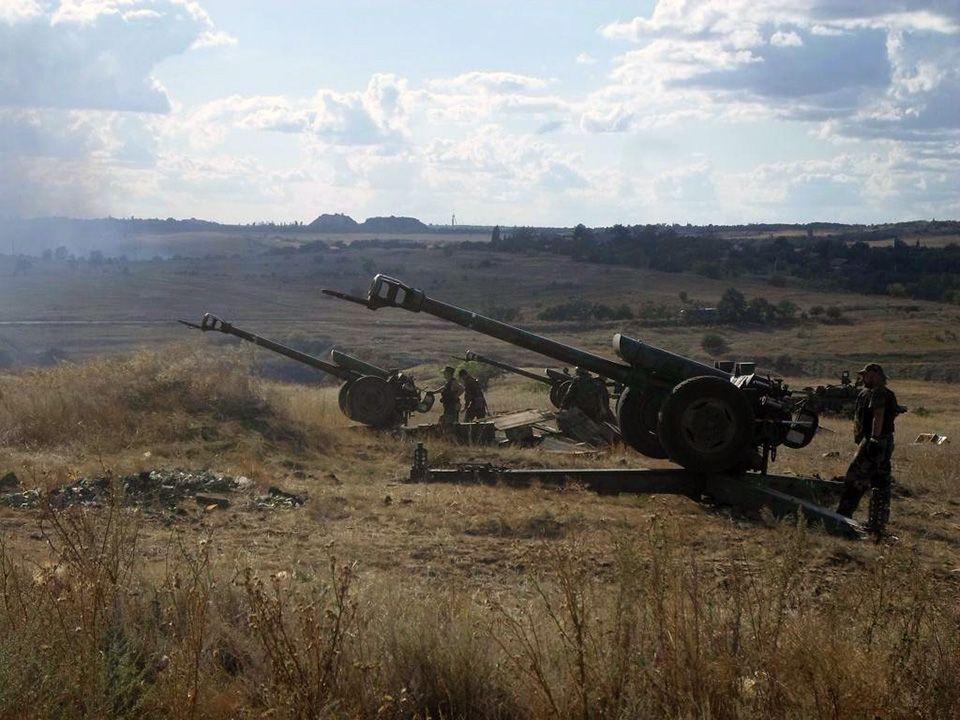 Артиллерия боевиков на Донбассе