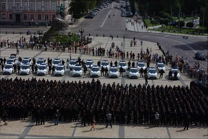 Киевские патрульные перед присягой