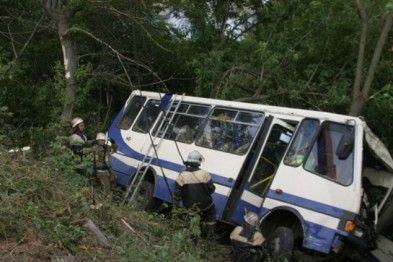 Под Киевом перевернулся автобус с нацгвардейцами
