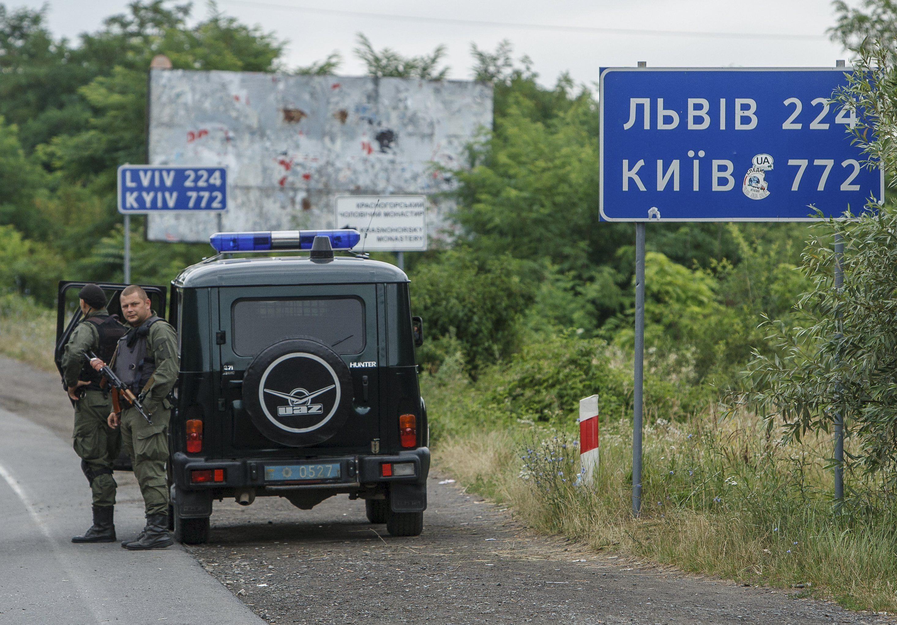 Спецназ МВД под Мукачево