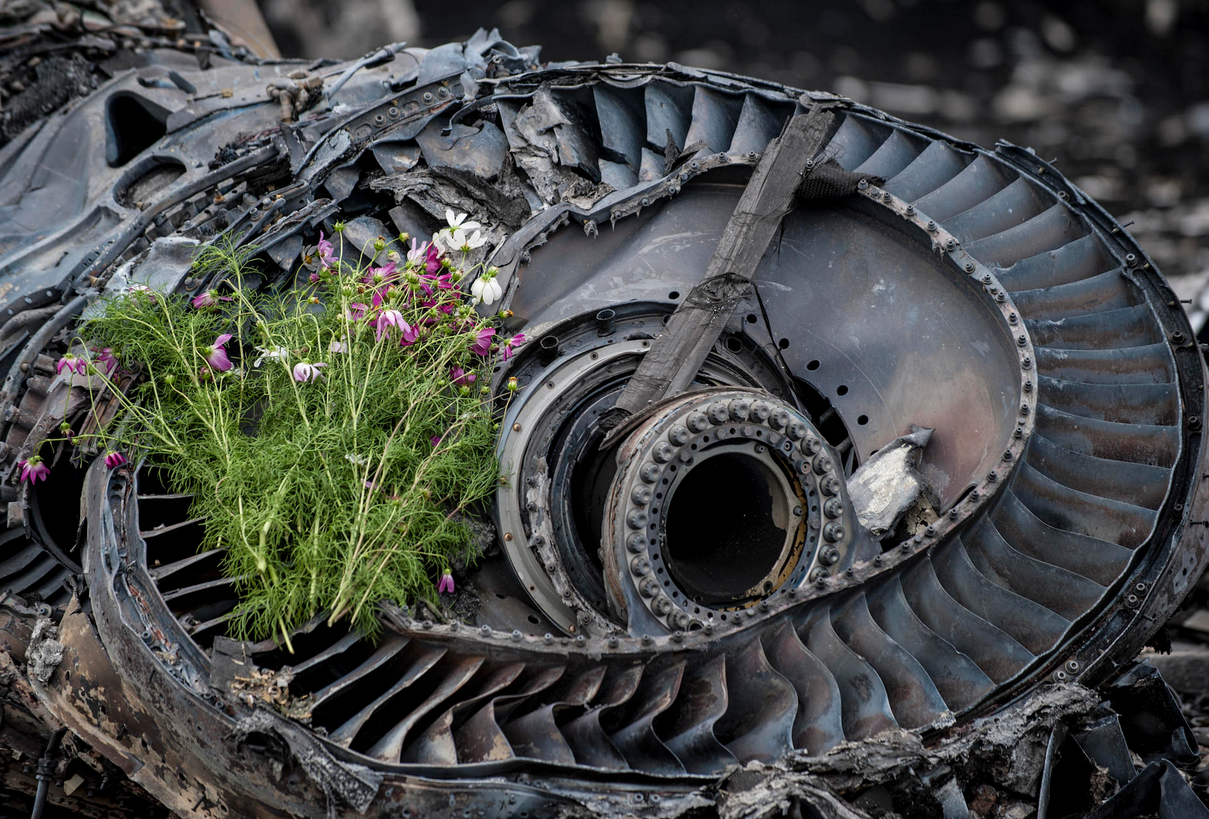 Обломки Боинга на Донбассе, иллюстрация