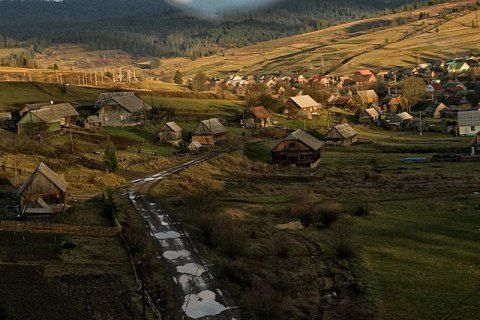 Железнодорожная ветка на Закарпатье, иллюстрация
