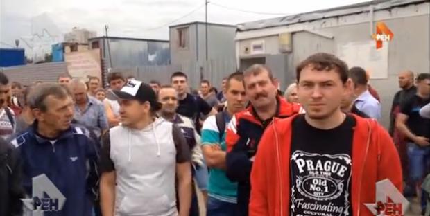 Протест московских метростроевцев