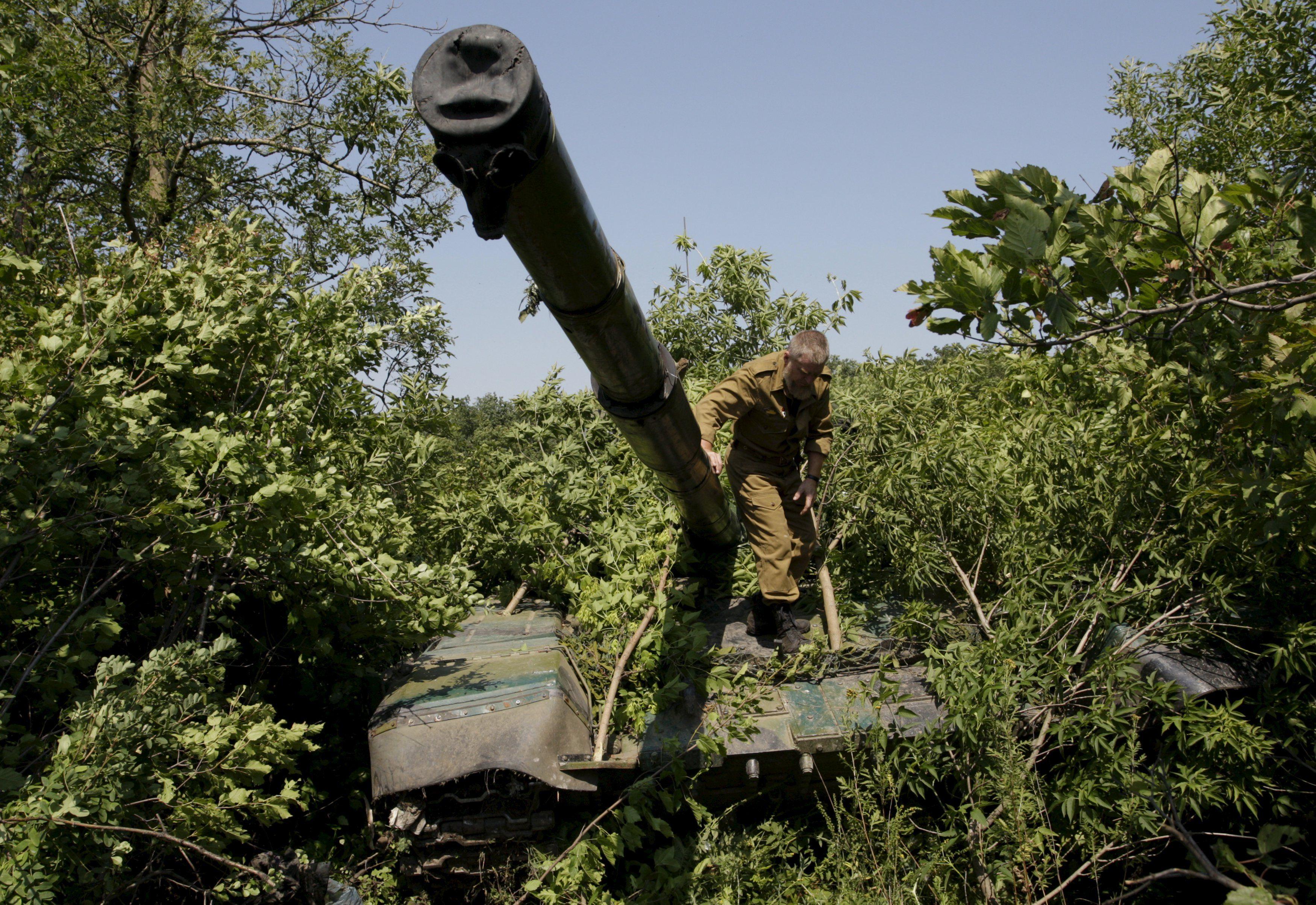 Боевик на танке