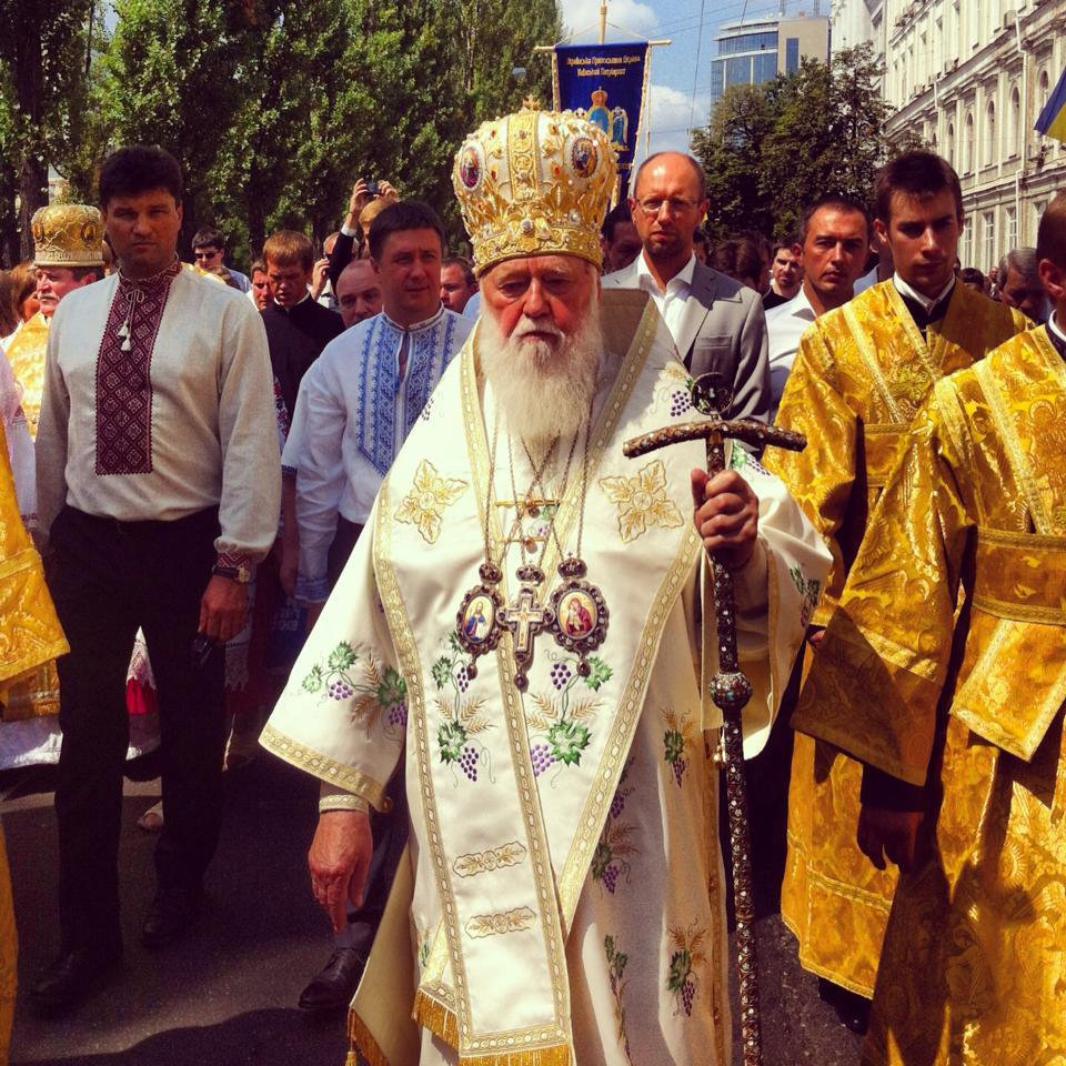 Филарет помолился о мире в Украине,