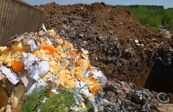 Уничтожение санкционных продуктов