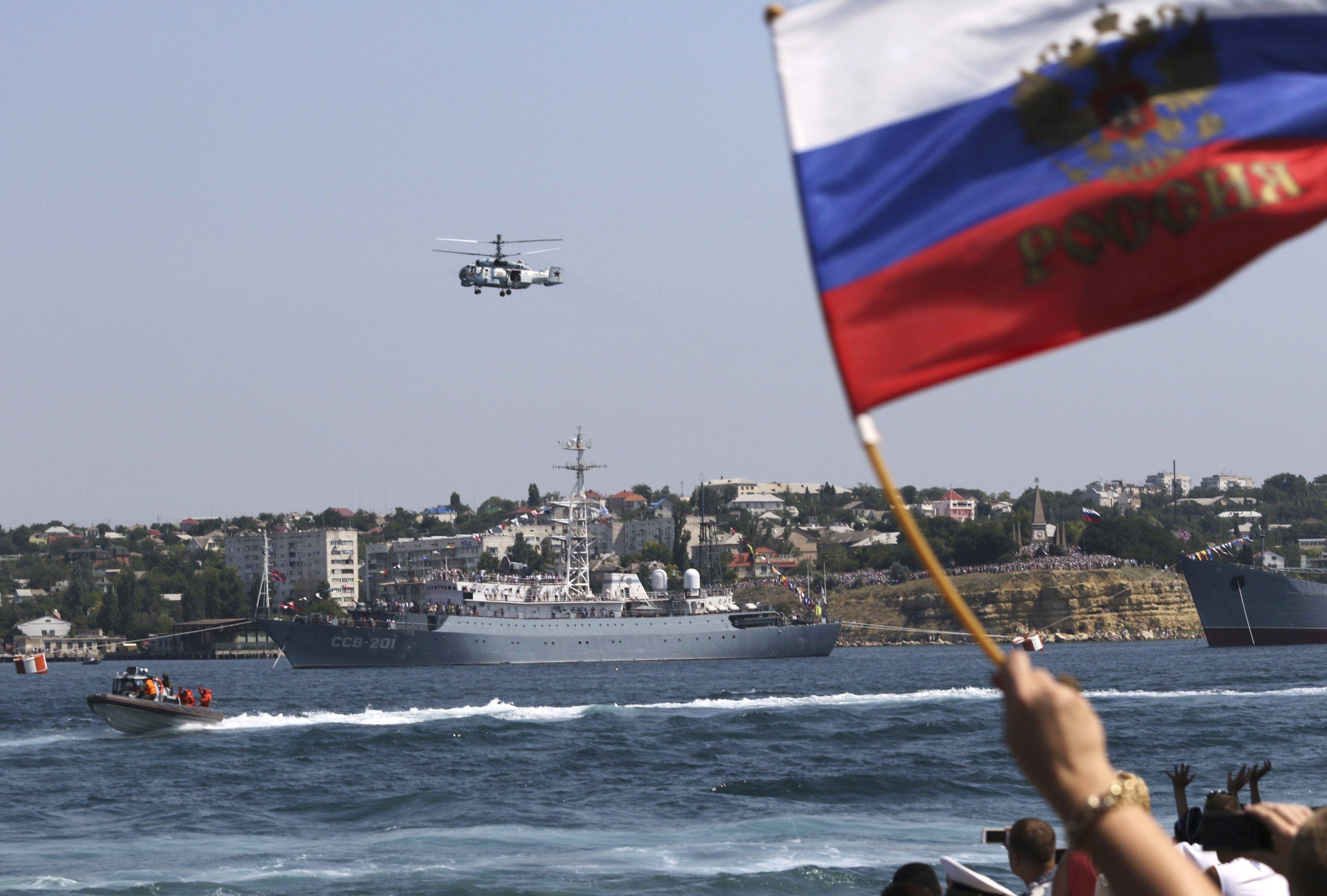 Флаг России в Крыму, иллюстрация