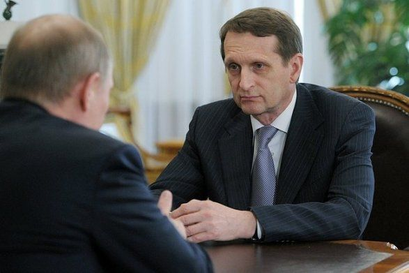 Владимир Путин и Сергей Нарышкин