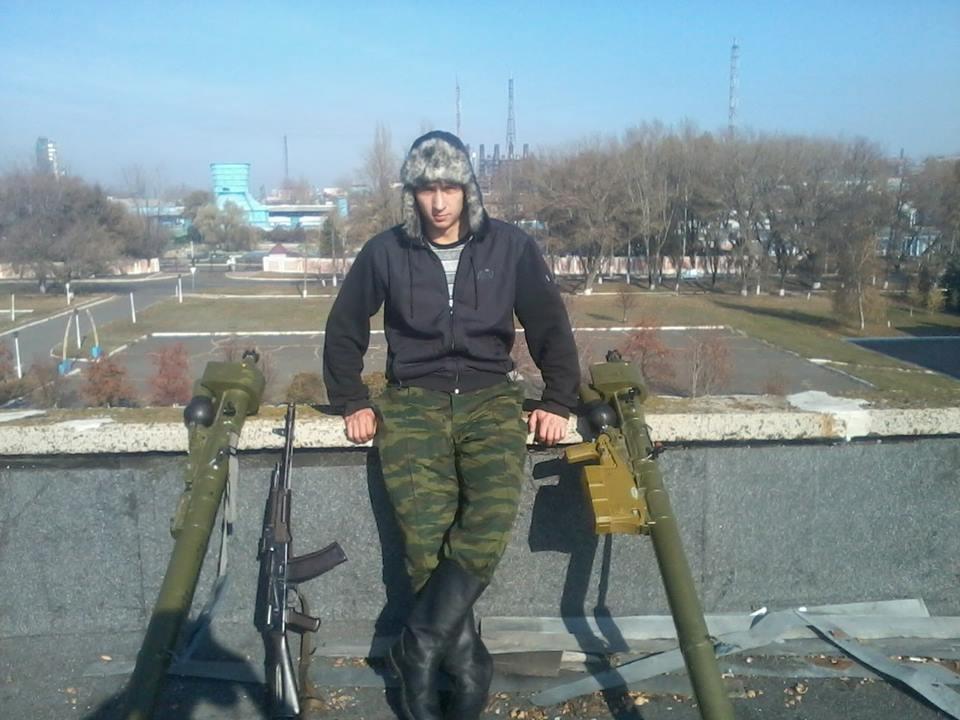 Боевик в Горловке