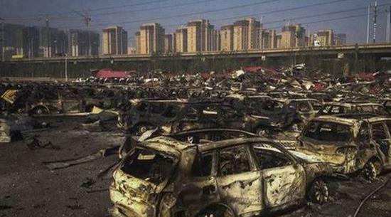 Последствия взрыва в Китае, иллюстрация
