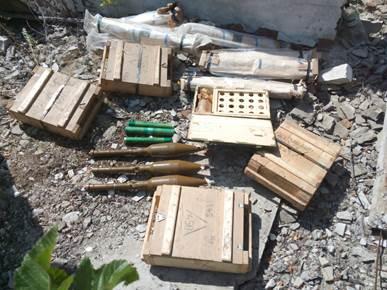 На Донбассе накрыли три схрона с оружием