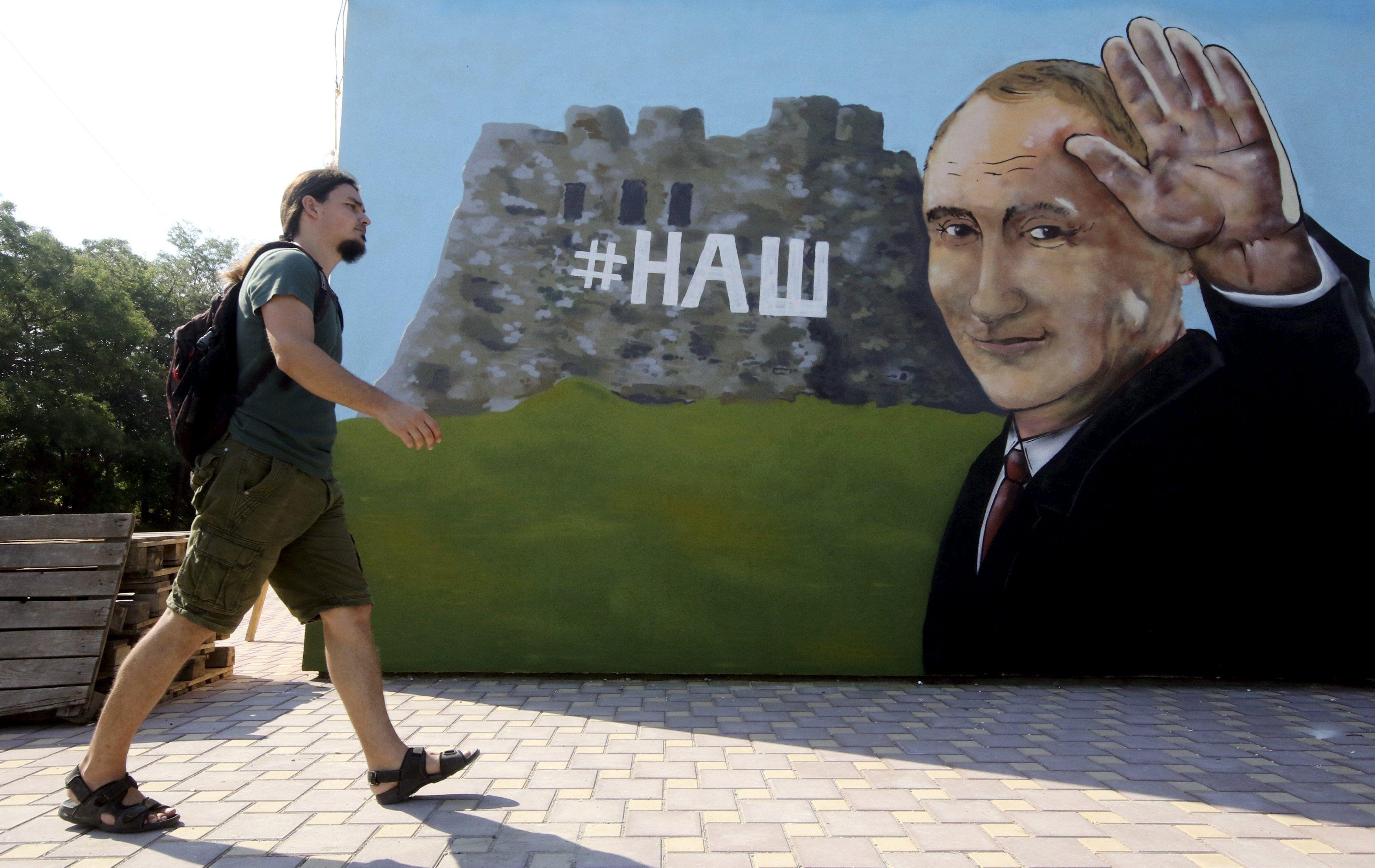 путин, крым, графити