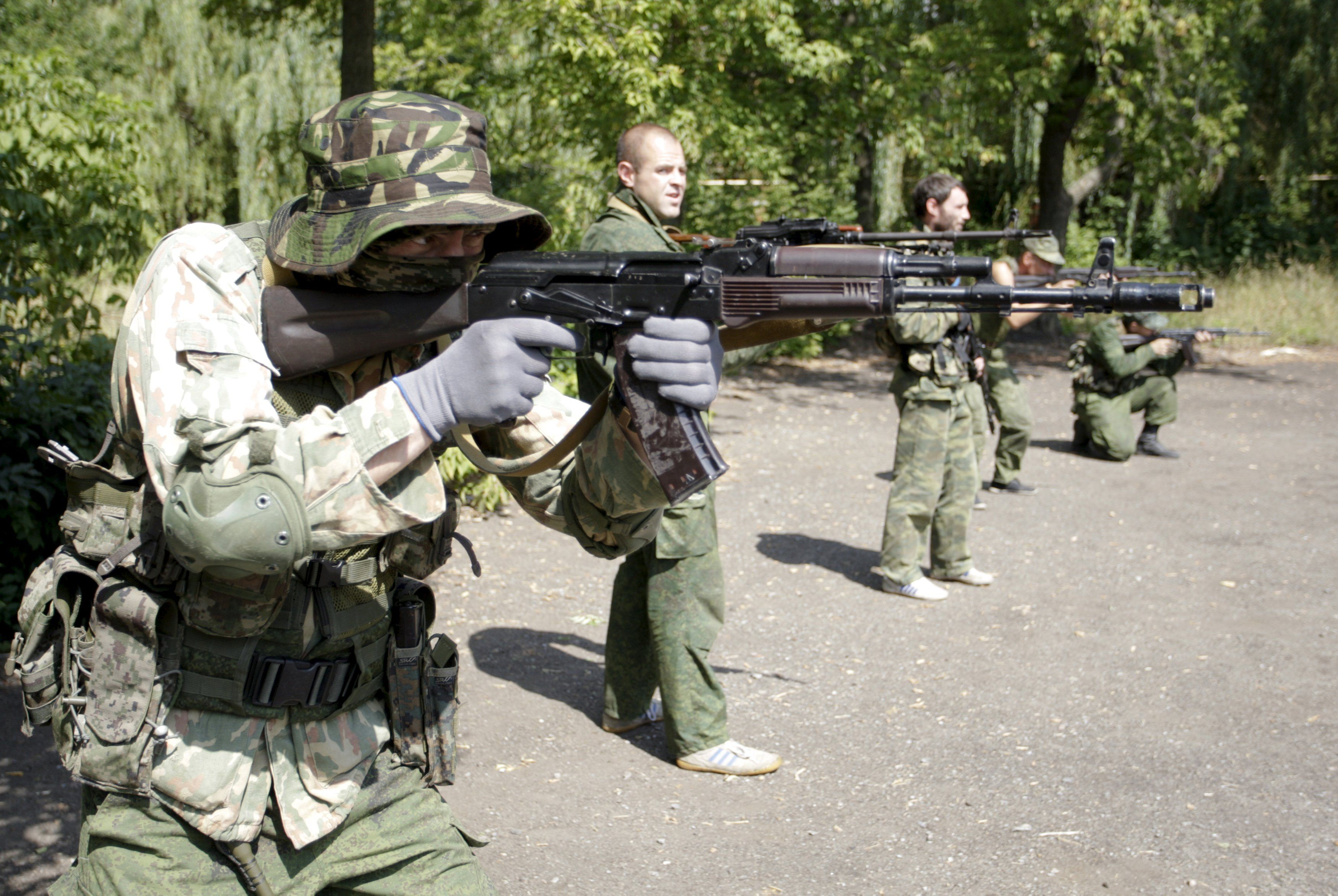 Подготовка наемников в Донецке
