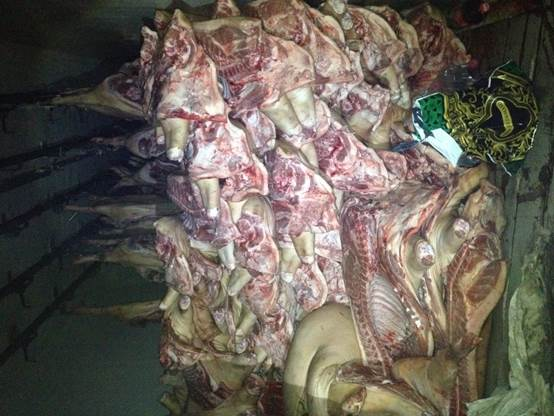 Под Волновахой перехватили грузовик с контрабандой мяса