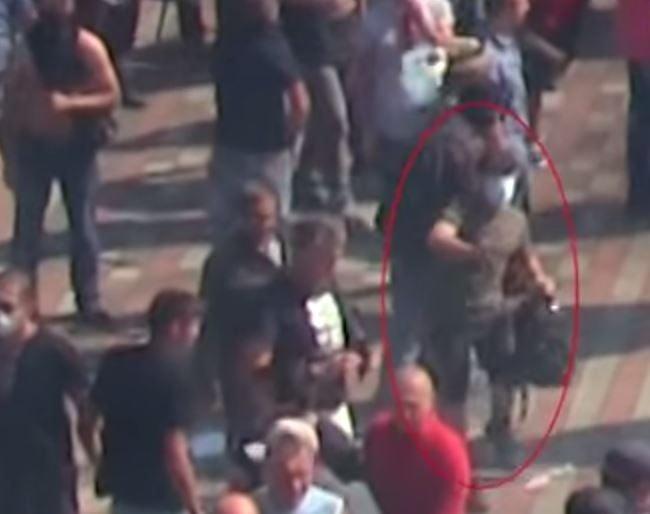 Есть видео человека, бросившего гранату под Радой