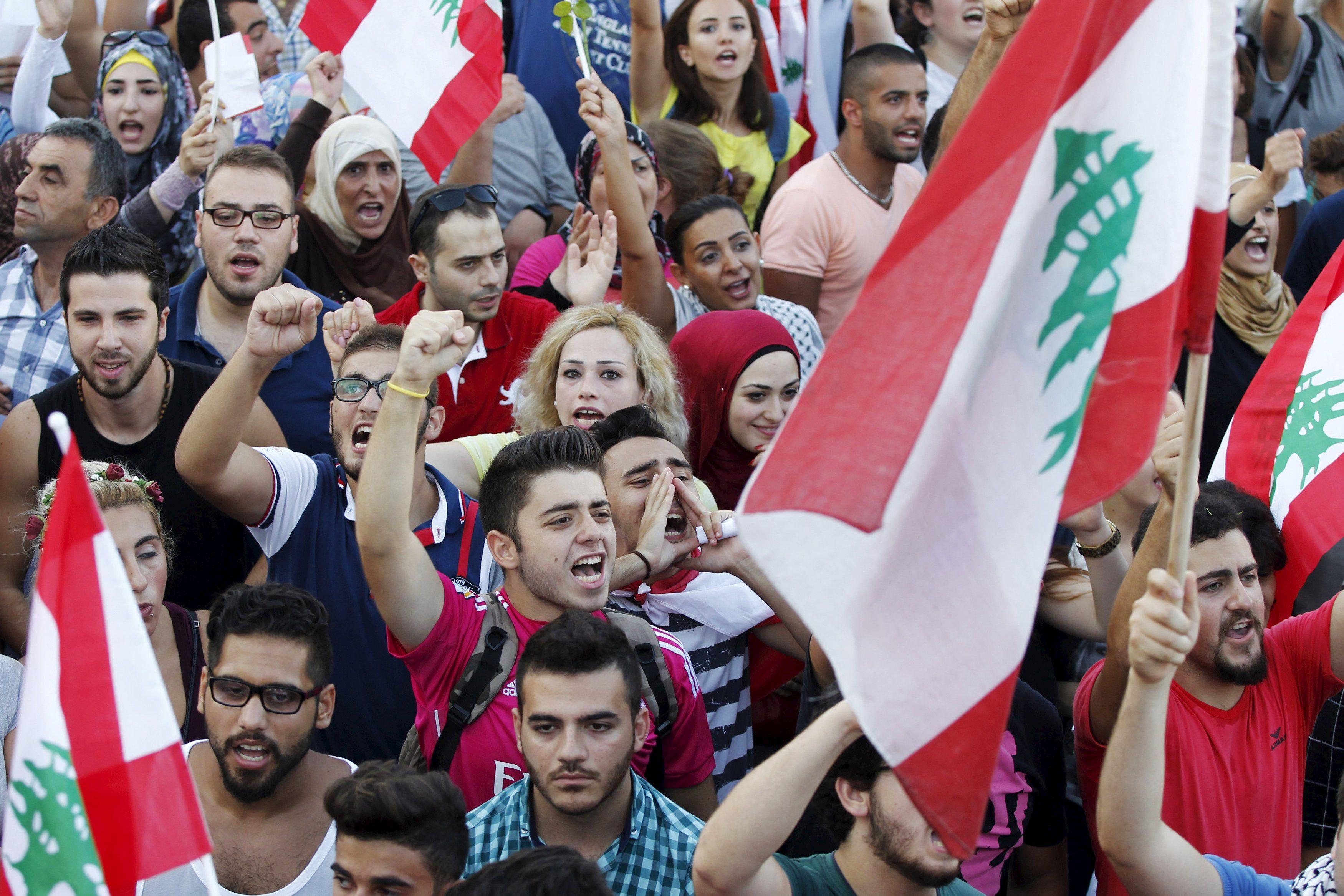 Протесты в Бейруте