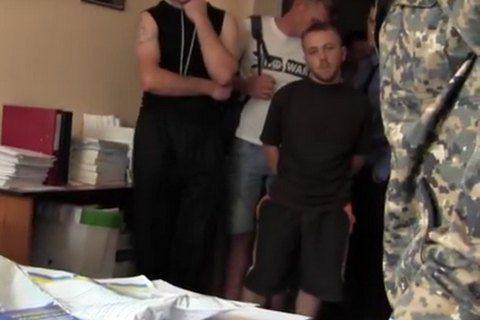 Игорь Гуменюк после задержания, скриншот оперативного видео МВД