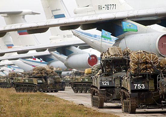 Российские войска на учениях.