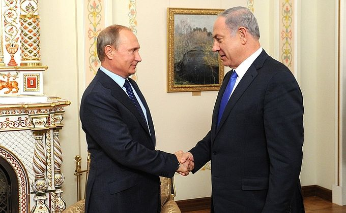 Путин,Нетаньяху