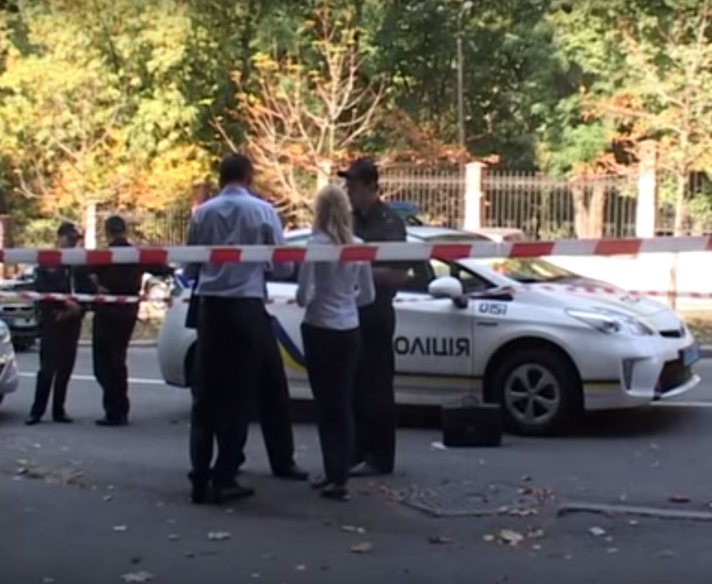 В центре Киева ранен милиционер